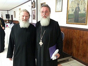Fr Gregory and His Grace Bishop Longin